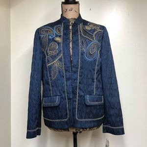 NWT Alfred Dunner Prince Street Embroidered Blazer